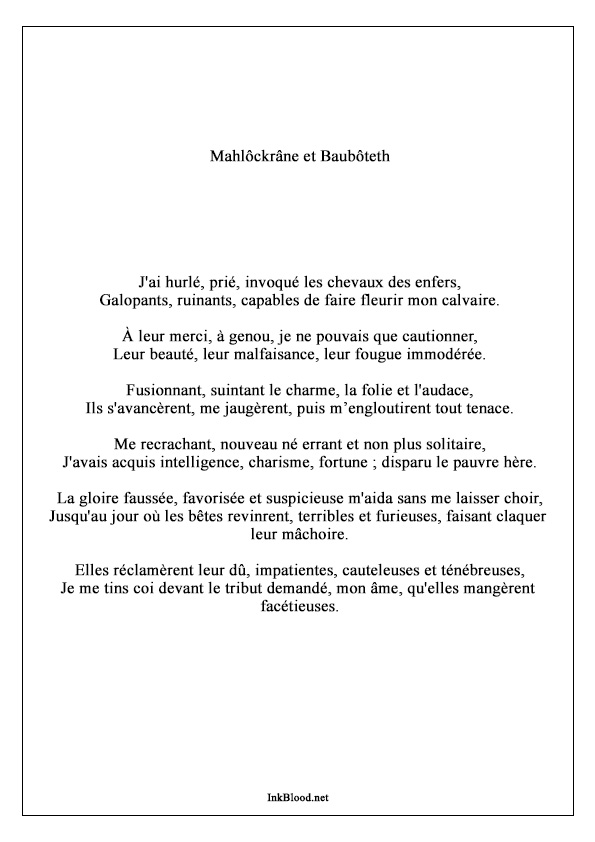 Mahlôckrâne-et-Baubôteth-