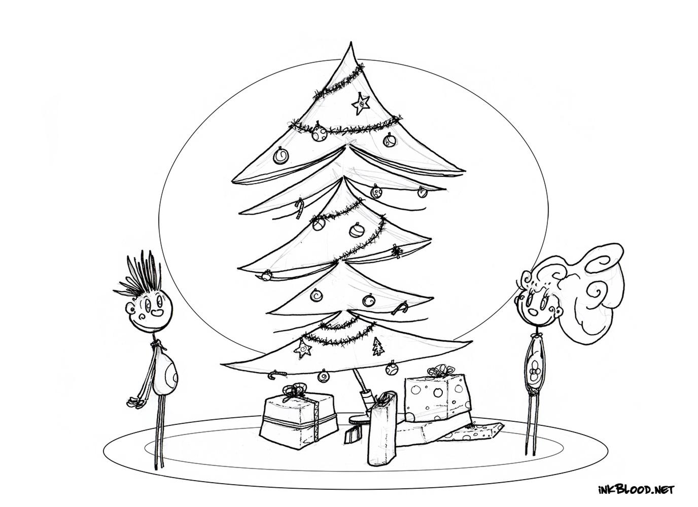 1-Dessin-de-Noël-à-colorier-sapin-de-noël-enfants-cadeaux