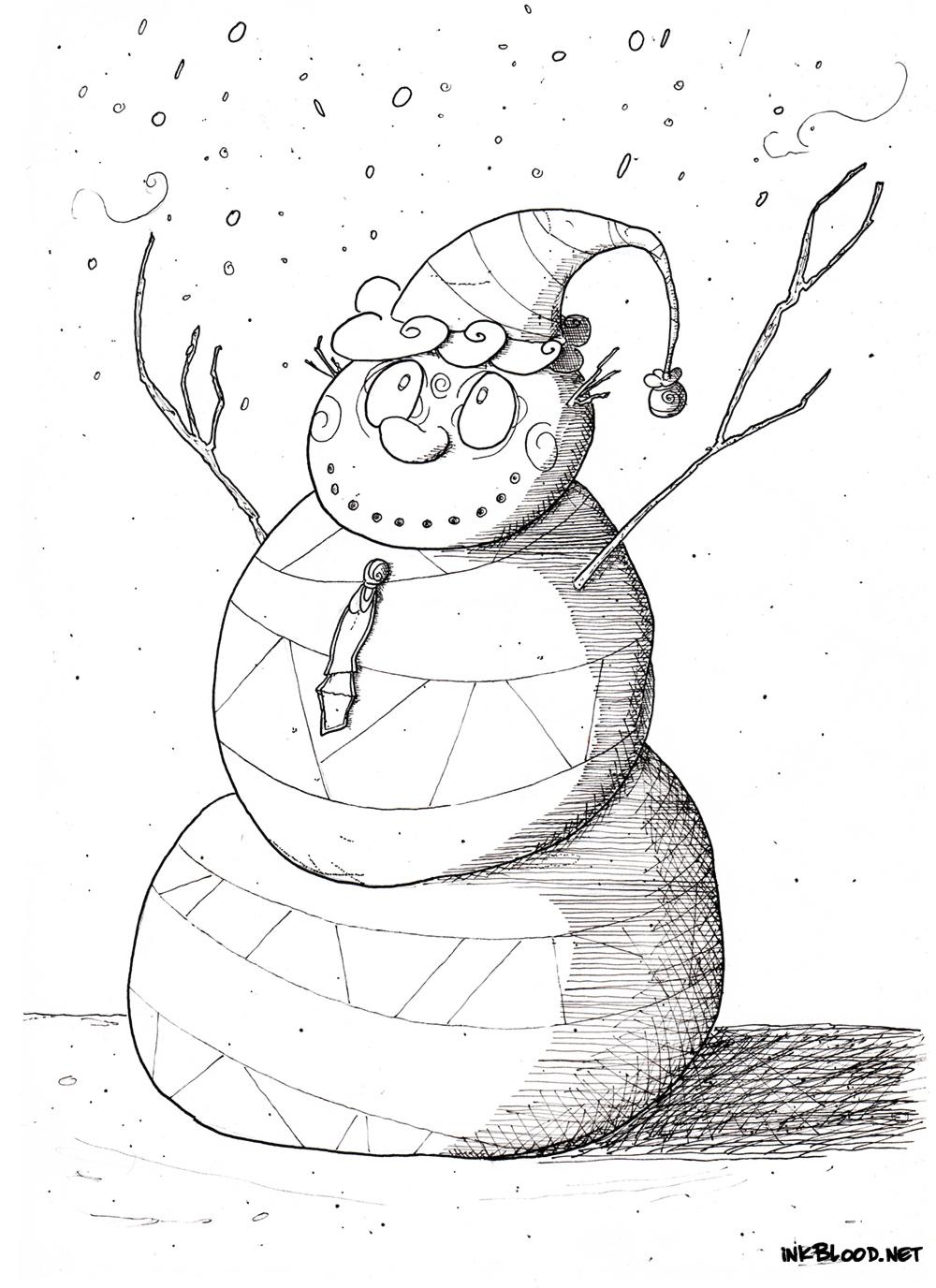 11-Dessin-de-Noël-à-colorier-bonhomme-de-neige