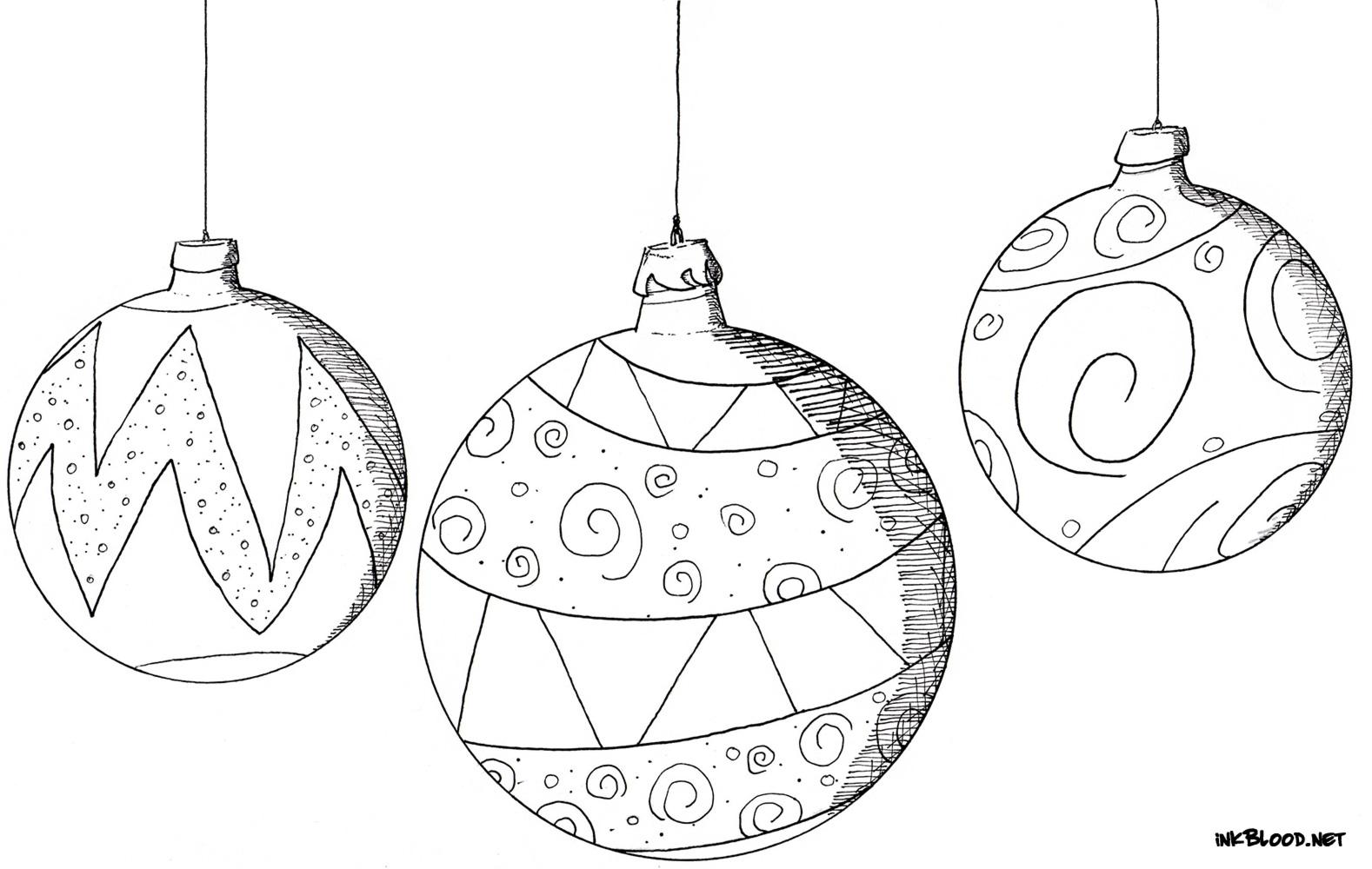 13-Dessin-de-Noël-à-colorier-boules-de-noël-sapin