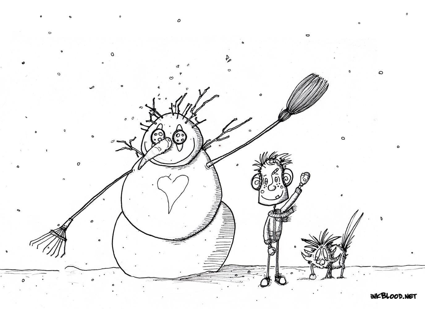 3-Dessin-de-Noël-à-colorier-bonhomme-de-neige-