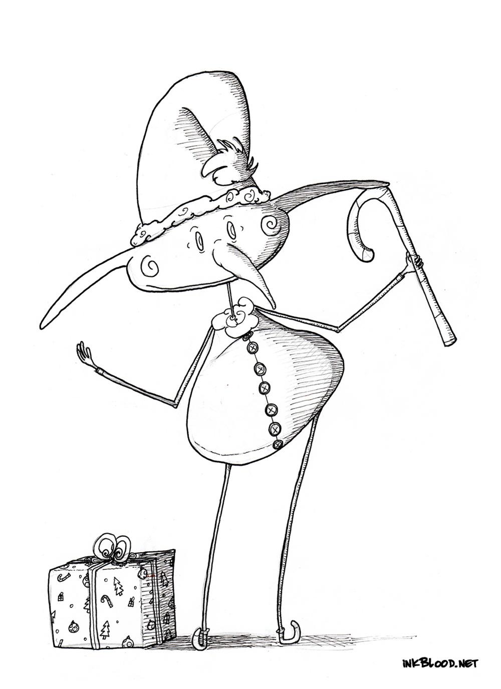4-Dessin-de-Noël-à-colorier-lutin-