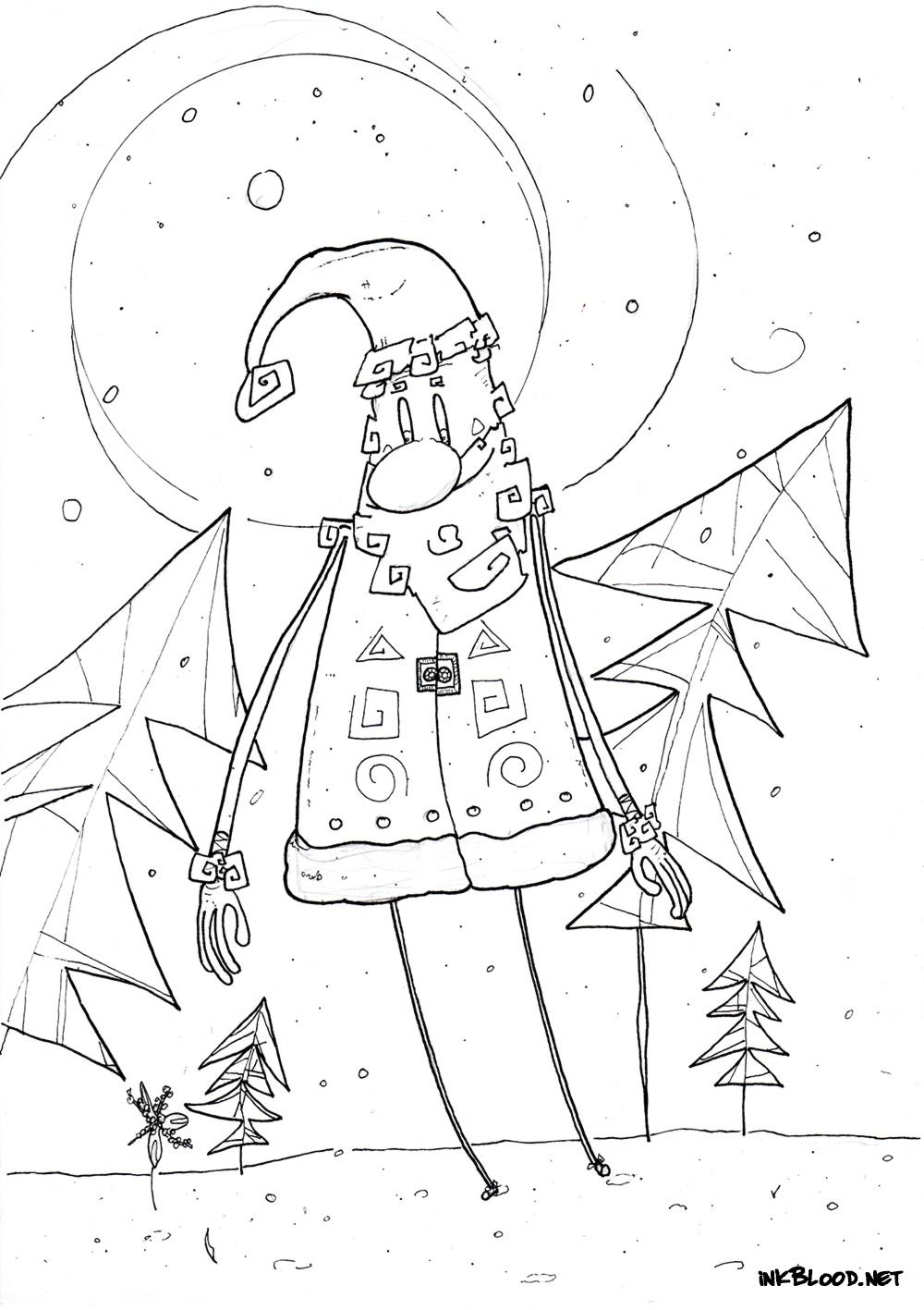 5-Dessin-de-Noël-à-colorier-père-noel-