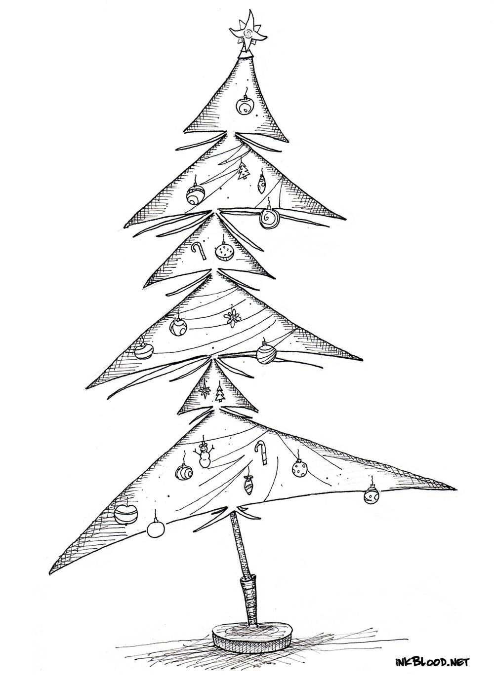 9-Dessin-de-Noël-à-colorier-sapin-de-noël