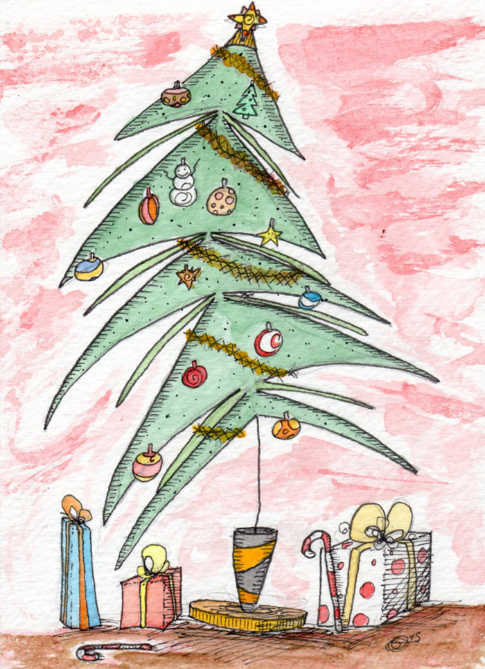 Sapin-de-Noel-aquarelle