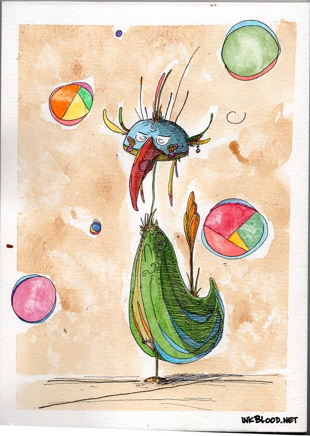 Oiseaux-Aquarelle-Inkblood-2 Ah-ni-yv-wi-ya