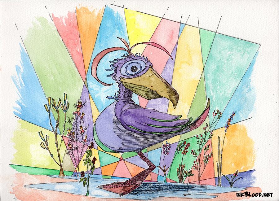 Oiseaux-Aquarelle-Inkblood-4 L'amère-zone