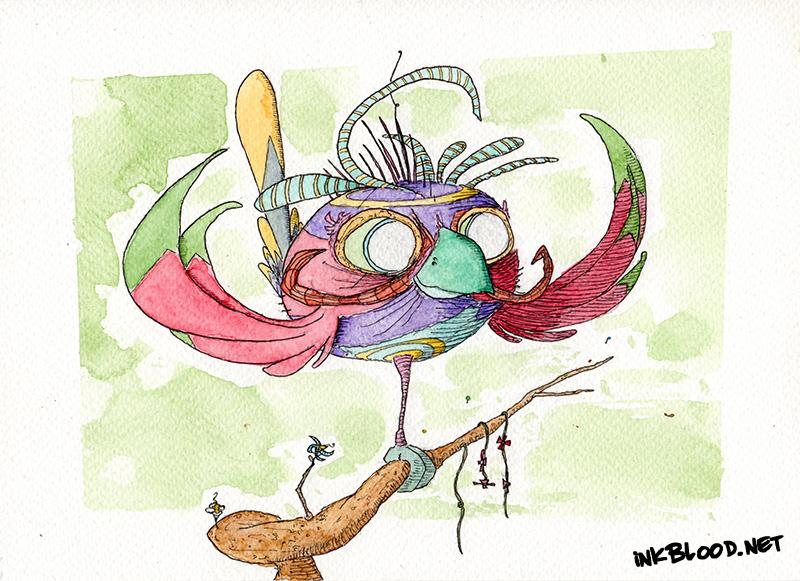 Oiseaux-Aquarelle-Inkblood-Râdiyo