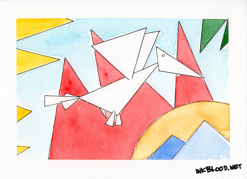 Oiseaux-Aquarelle-Inkblood-Simplification
