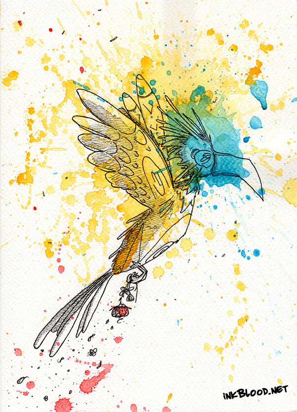 Oiseaux-aquarelle-Envol-RdlCplDdlC