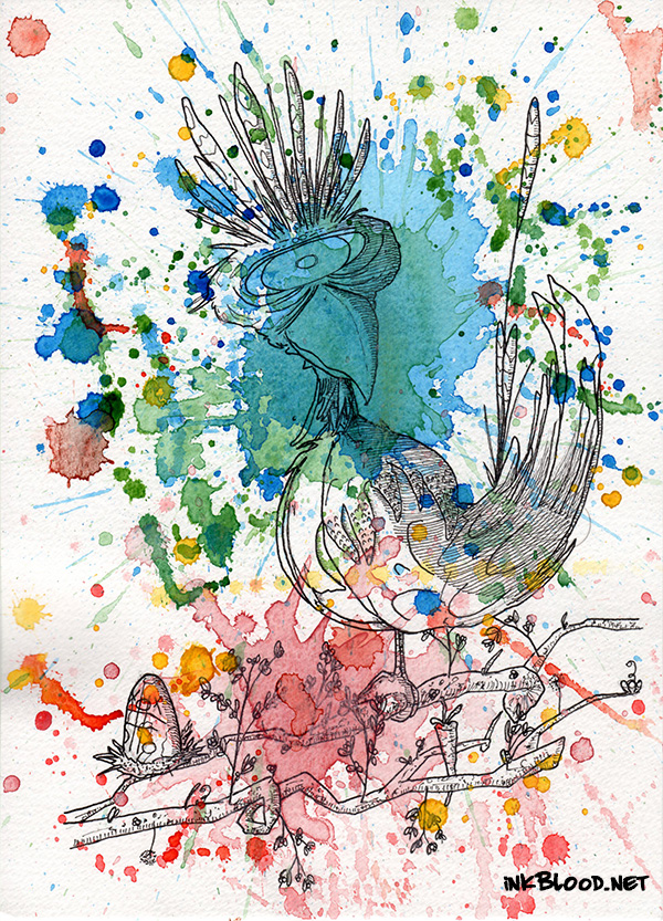 Oiseaux-aquarelle-Jakyké-RdlCplDdlC