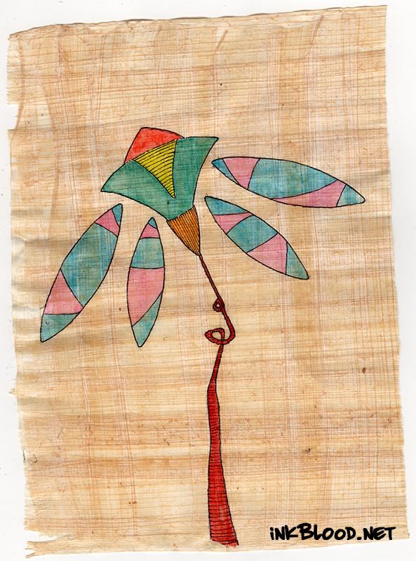 Fleurs-Aquarelle-Papyrus-Inkblood-Anne-Laure