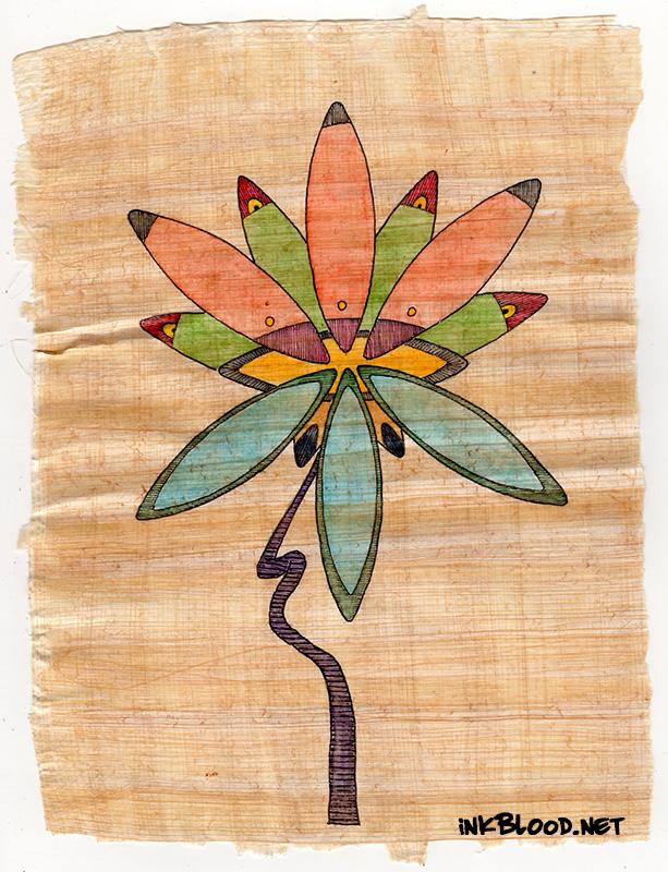 Fleurs-Aquarelle-Papyrus-Inkblood-Eugénie