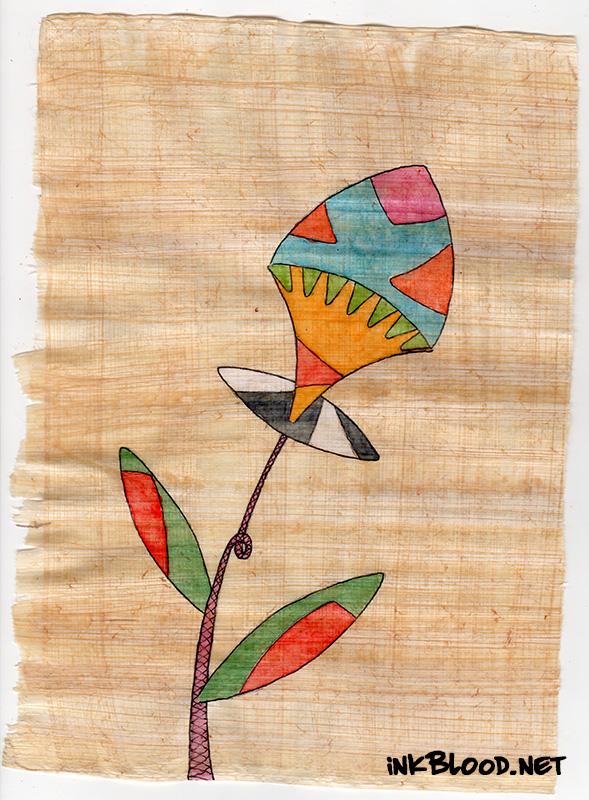 Fleurs-Aquarelle-Papyrus-Inkblood-Morgane