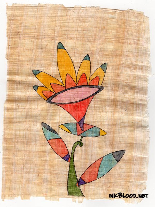 Fleurs-Aquarelle-Papyrus-Inkblood-Sarah