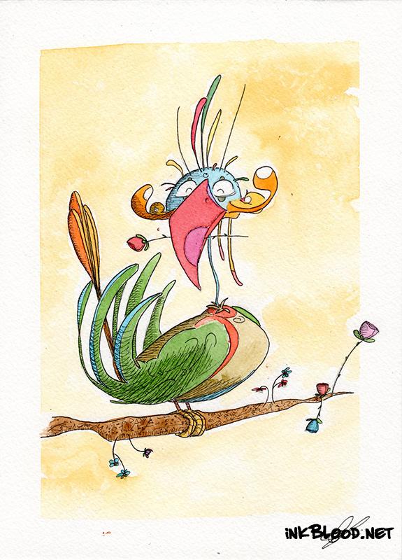 Oiseaux-Aquarelle-Inkblood-Joyeux-Joël