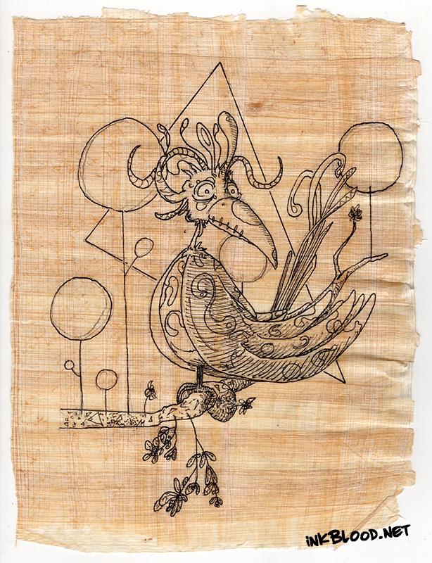 Oiseaux-Papyrus-Inkblood-En-attendant