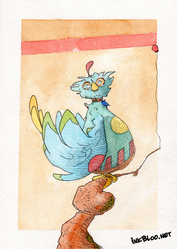 Oiseaux-Aquarelle-Inkblood-A-l'Est-calme