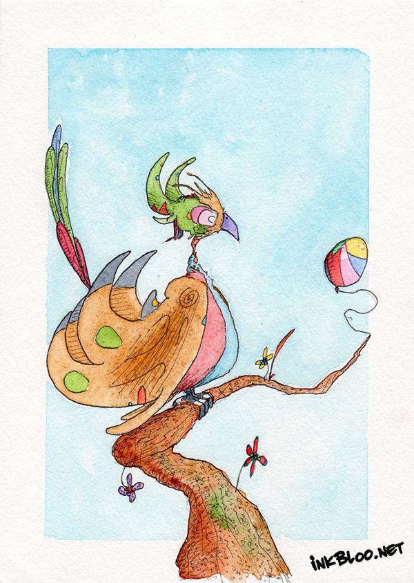 Oiseaux-Aquarelle-Inkblood-Bella-Mama