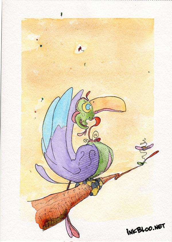 Oiseaux-Aquarelle-Inkblood-Bonstran