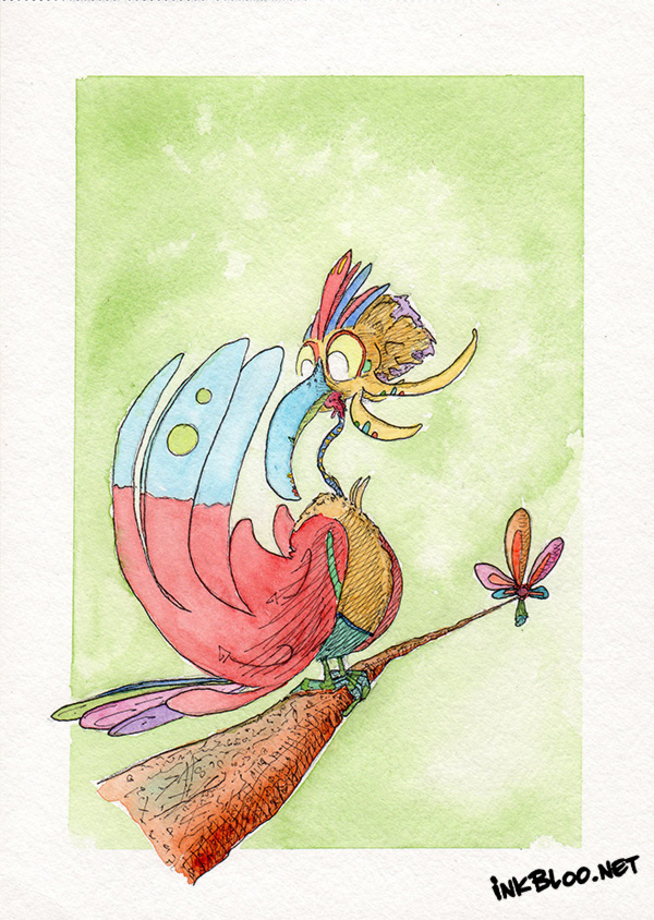 Oiseaux-Aquarelle-Inkblood-Cugitien