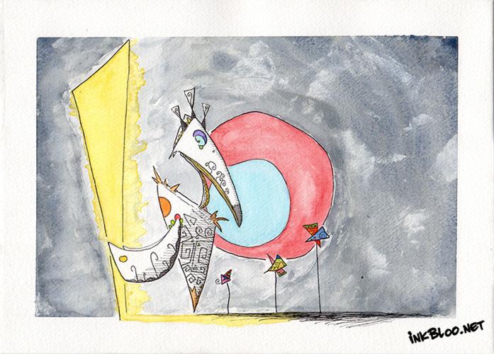 Oiseaux-Aquarelle-Inkblood-Vélocité