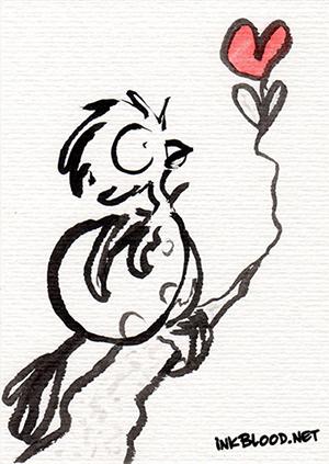 Oiseaux-Inkblood-Encre-de-Chine-Amour