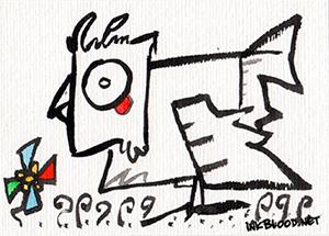 Oiseaux-Inkblood-Encre-de-Chine-Fête