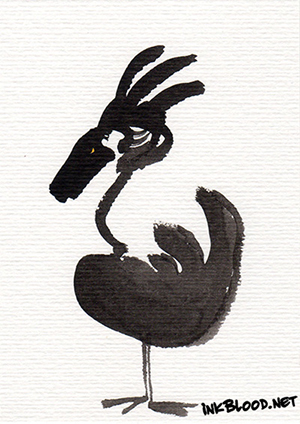 Oiseaux-Inkblood-Encre-de-Chine-Flamme