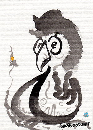 Oiseaux-Inkblood-Encre-de-Chine-Iroquois