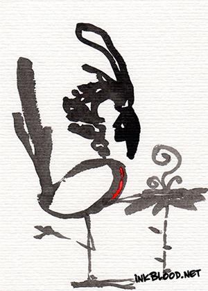Oiseaux-Inkblood-Encre-de-Chine-Médicinal