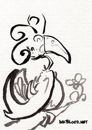 Oiseaux-Inkblood-Encre-de-Chine-Pygmalion
