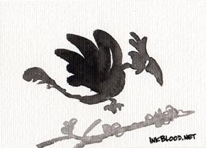 Oiseaux-Inkblood-Encre-de-Chine-Sérénitude