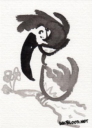 Oiseaux-Inkblood-Encre-de-Chine-Vincent