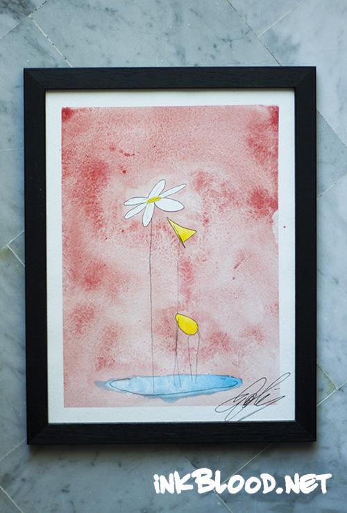 aquarelle-la-fleur-et-la-girafe-inkblood