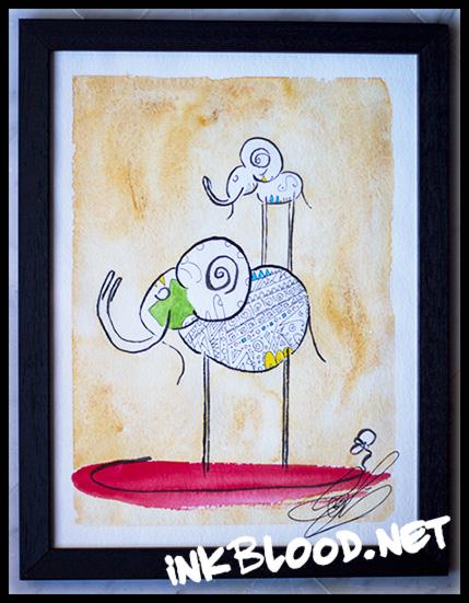 elephant-encre-de-chine-aquarelle-inkblood-net